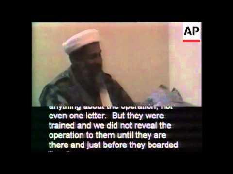 Pentagon-Released Video of Osama bin Laden Talking About Terrorist Attacks (A)