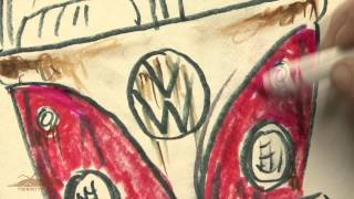 How to Draw a VW Bus - The Rusty VW