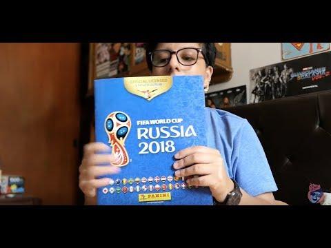 UNBOXING ALBUM PANINI RUSIA 2018