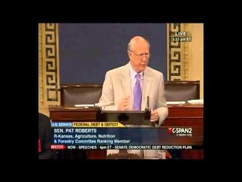 Your Senate Pill July 26, 2011 -- Pat Roberts and Barack Obama Play Basketball