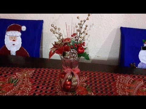 Centro de mesa navideño facil
