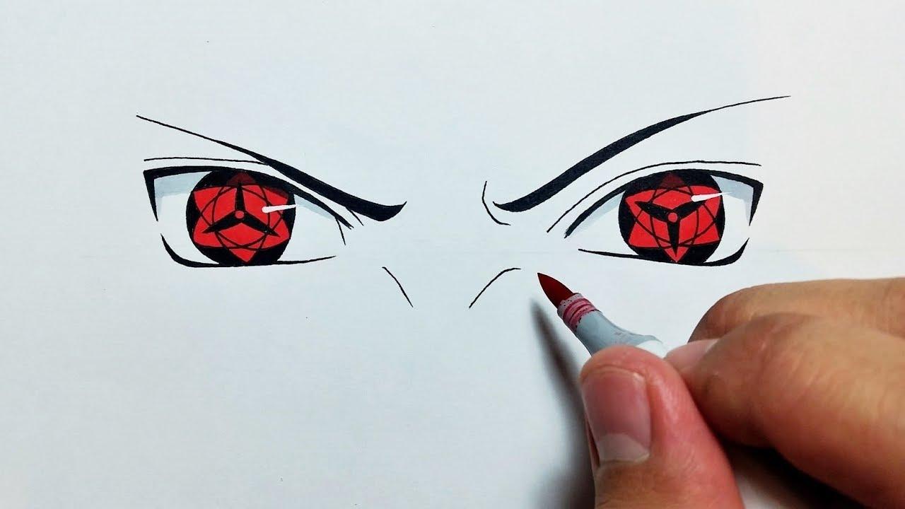 Drawing Itachi's Mangekyou Sharingan Eye - YouTube |Itachi Mangekyou Sharingan Drawing