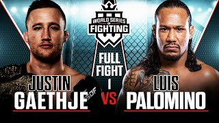 Full Fight | Justin Gaethje vs. Luis Palomino (Lightweight Title Bout) | WSOF 19, 2015