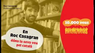 Roc Casagran dóna la seva veu pel català!