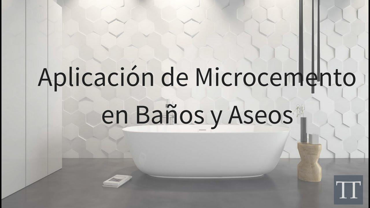 Video aplicaci n de microcemento ba os resultado incre ble - Como colocar microcemento ...