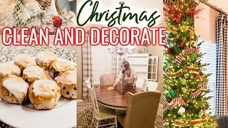 CHRISTMAS CLEAN AND DECORATE WITH ME! 🎄❤💚 | Cook Clean And Repeat