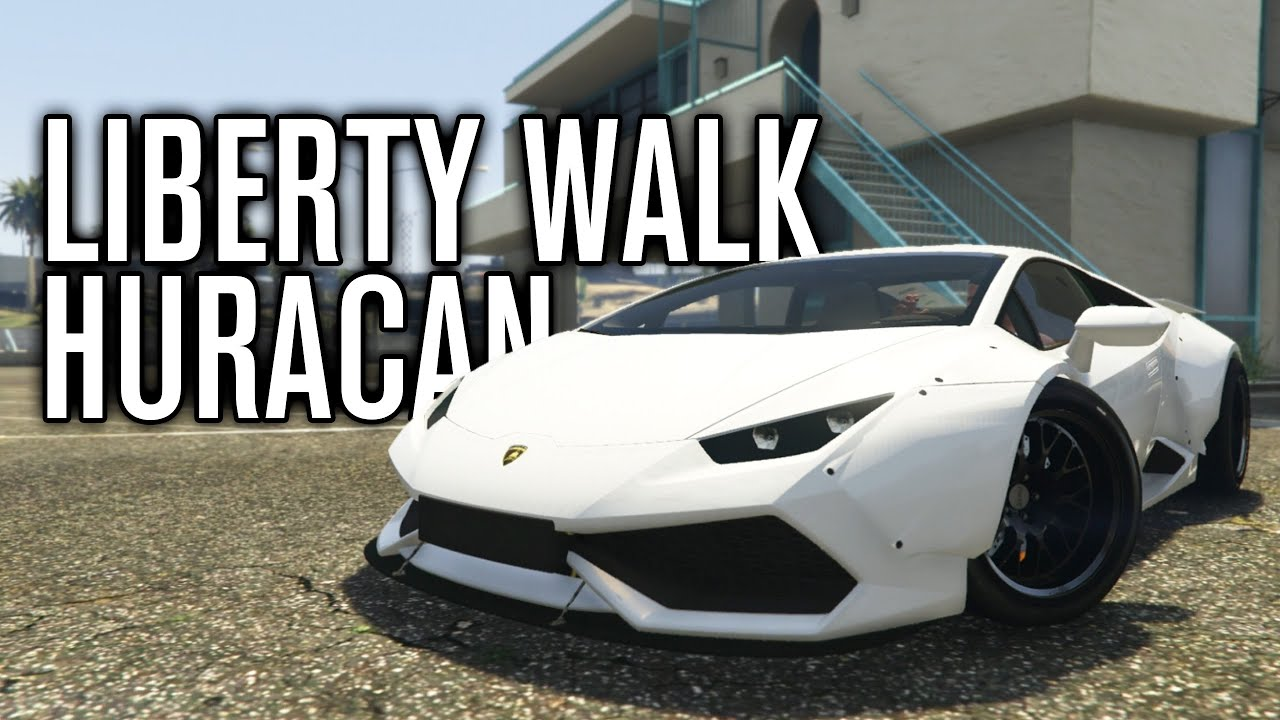 liberty walk lamborghini huracan gta 5 mods youtube. Black Bedroom Furniture Sets. Home Design Ideas
