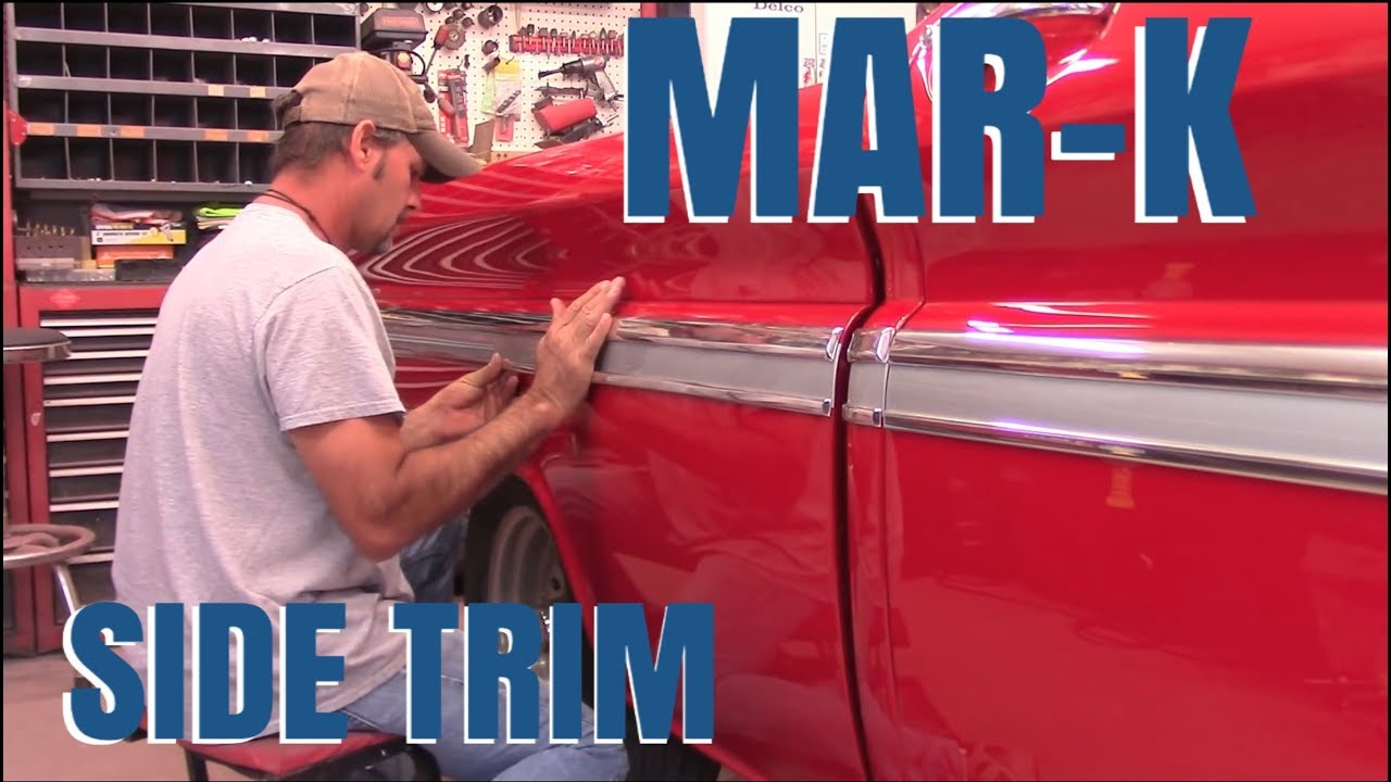 Install MAR K Side Molding Trim 63 Chevy C 10 YouTube
