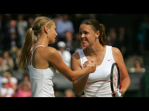 Maria Sharapova vs Lindsay Davenport 2004 Wimbledon Highlights