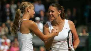 Maria Sharapova vs Lindsay Davenport 2004 Wimbledon Highlights
