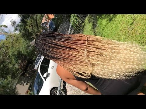 #377. HONEY BLONDE GODDESS BOX BRAID - YouTube