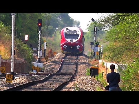(4K Ultra HD) Yesvantpur-  Hosur DEMU Train of South Western Railway (Indian Railways)