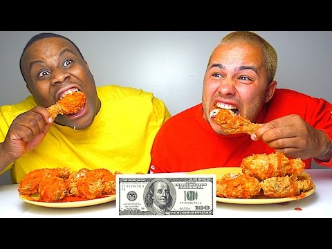 HOTTEST HOT FRIED CHICKEN IN THE WORLD!!! $200 CASH BET!!! GHOST PEPPER + CAROLINA REAPER