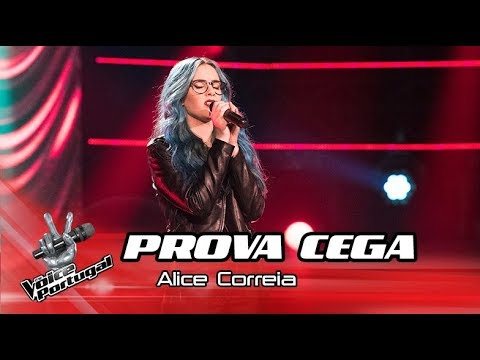 Alicia Correia  Id Rather Go Blind  Blind Audition  The Voice Portugal
