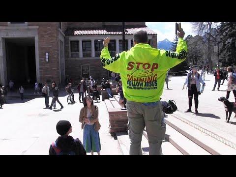 Loving Students Educate Hateful Street Preacher At University Of Colorado-Boulder | Kerrigan Skelly