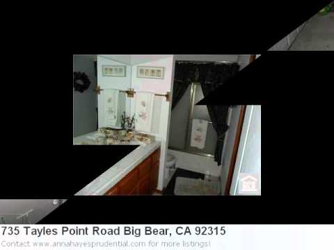 Real Estate Listing For Big Bear, Ca- 735 Tayles Point Road