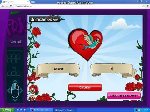 Friv Juegos Test De Amor Youtube
