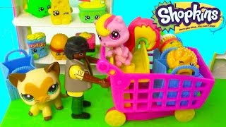 LPS Shopkins Small Mart Review Littlest Pet Shop Playset Exclusive Toy Review