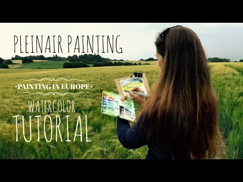 Plain Air Watercolor Tutorial: Landscape Painting in Europe