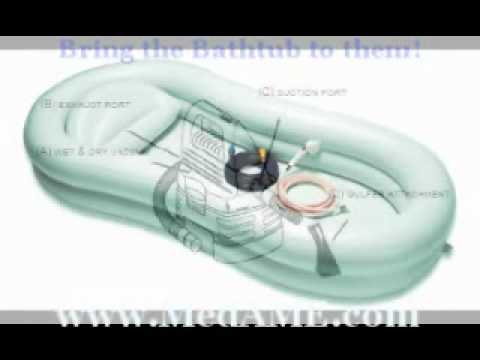 Inflatable Bathtub for Adults from EZ Healthcare Supplies - YouTube