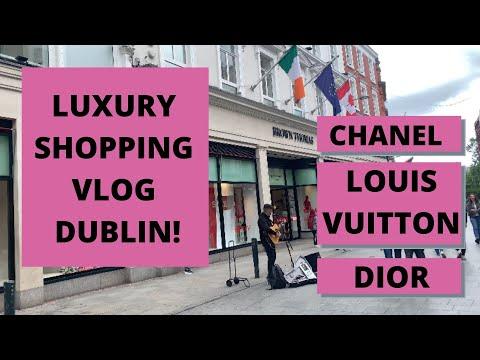 LUXURY SHOPPING VLOG DUBLIN: Chanel, Louis Vuitton, Dior etc, Shelbourne Hotel. Come shop with me!