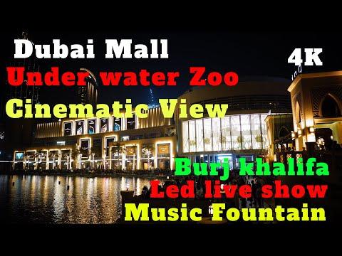 4K Dubai Mall Biggest Mall In The World Cinematic 2020 View