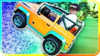 My New Power Wheels Climbing Up Hill, Kids Big Toys - TigerBox HD