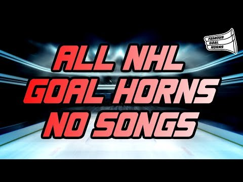 All NHL Goal Horns NO SONG