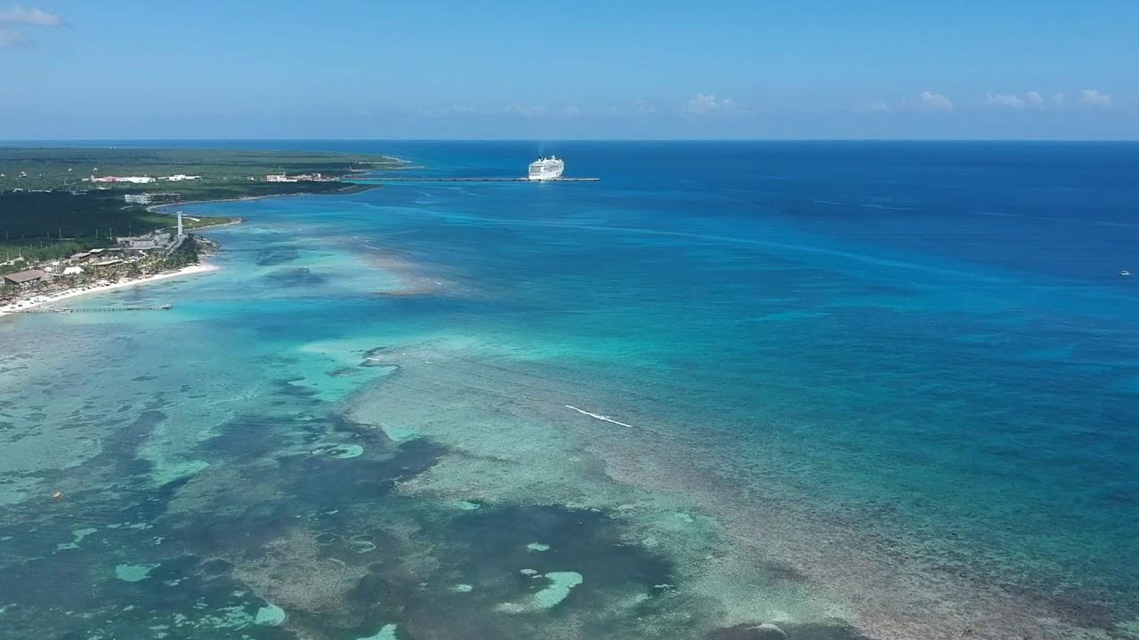 Costa Maya Mexico Tour Mahahual Quintana Roo Ncl Pearl Caribbean Cruise Port W Dji Spark Drone Youtube