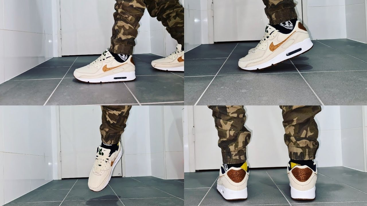 Air Max 90 SE Recycled Cork Coconut Milk on feet