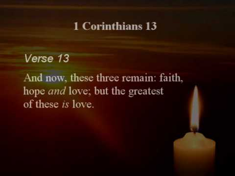 Love Is...1 Corinthians 13 - The Wedding Song - YouTube