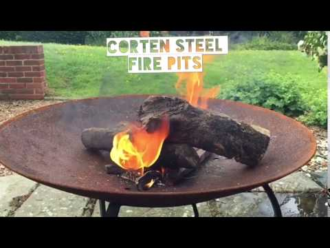 - Corten Steel Fire Pits - YouTube