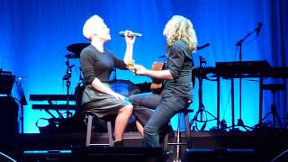 "P!nk Pink singing ""Time After Time"" at Cyndi Lauper benefit in New York, 12/7/13"