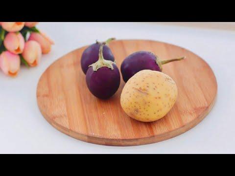 لو عندكم بطاطا وباذنجان جربوا هذا الطبق الرائع   An Amazing Side-dish