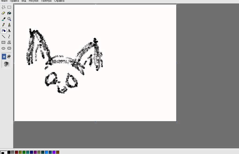 Как нарисовать кот а в paint