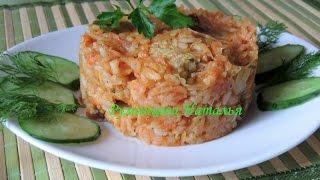Тушенная капуста с мясом, рисом и овощами в мультиварке