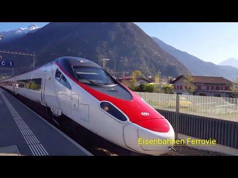 Treni Delle SBB, Eurocity, ICN, Vectron, DB Br185, ETR 610 Sulla Ferrovia Del Gottardo In Svizzera