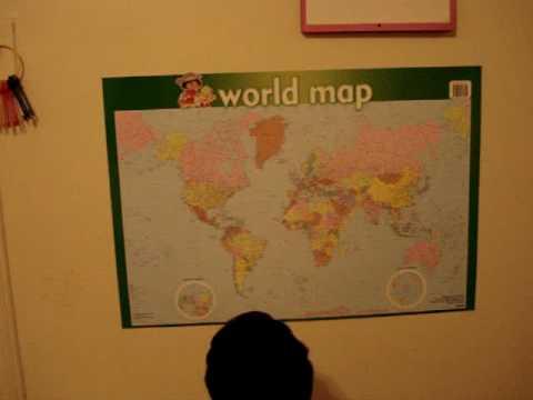 Anya reading world map