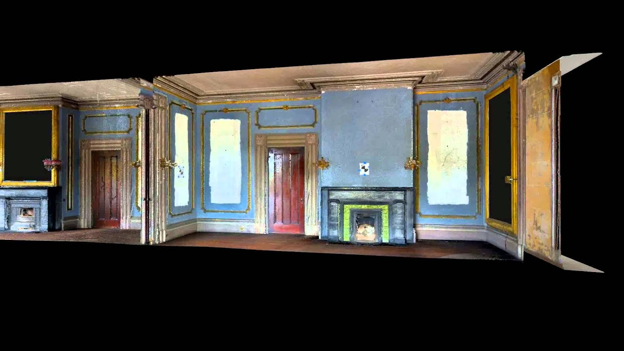 Habs fly through of robinson aiken house double parlor for Aiken house
