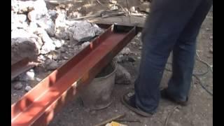Ворота рамки и установка стоек Ч2(Замена старых и установка новых ворот. http://youtu.be/MiOzN0gF1oM Демонтировали старые ворота, скажем так, то что делае..., 2014-04-29T14:39:24.000Z)