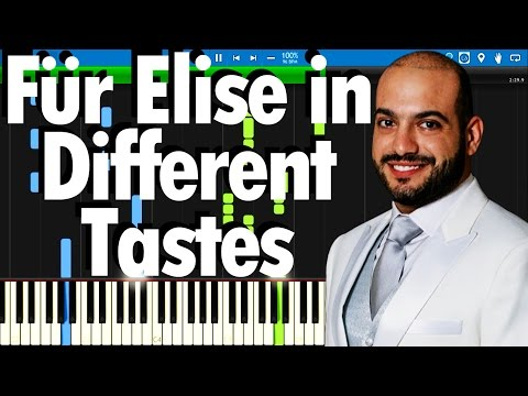 Für Elise in Different Tastes - Maan Hamadeh's performance | Synthesia Piano Tutorial