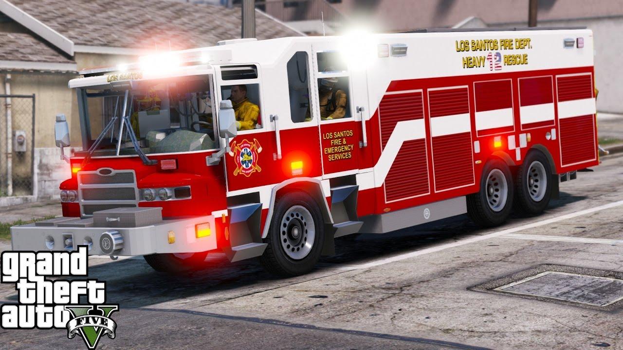 Gta 5 Play As A Firefighter Mod 41 Los Santos Fire