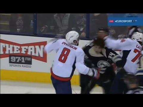 Ovechkin vs Josh Anderson WSH - CBJ Fight