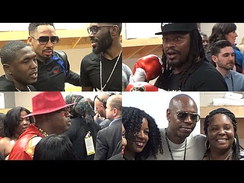 ANDRE WARD CELEBRATES WITH MARSHAWN LYNCH, DAVE CHAPPELLE, E-40 & MORE RIGHT AFTER KOVALEV TKO