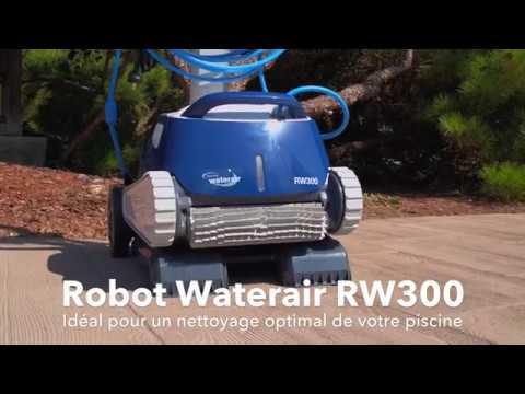 Robot nettoyeur rw300 piscines waterair youtube for Robot piscine waterair