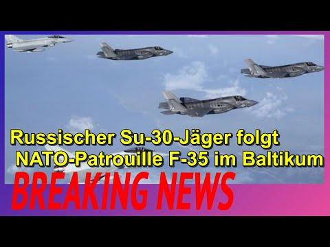 Russischer Su-30-Jäger folgt NATO-Patrouille F-35 im Baltikum