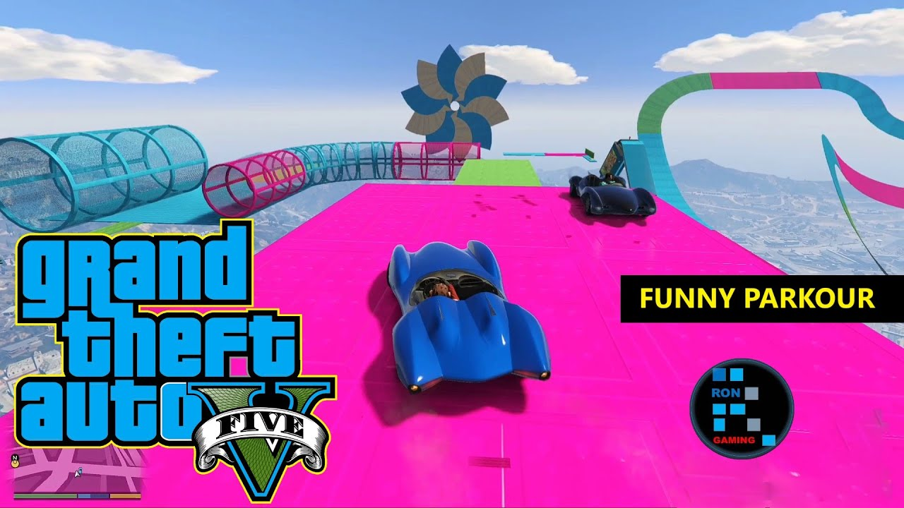 GRAND THEFT AUTO V | SCRAMJET PARKOUR FUNNY GAMEPLAY thumbnail