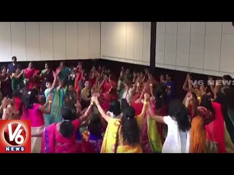Indian People In Chicago Celebrates Bathukamma With Great Gaiety | V6 News