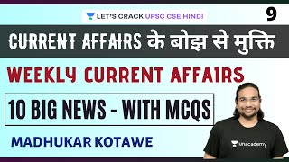 Weekly Current Affairs (Part 9)   10 Big News - with MCQs   UPSC CSE PRELIMS 2020/2021   IAS