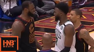 LeBron James & Jaylen Brown exchange words / Cavaliers vs Celtics Game 6